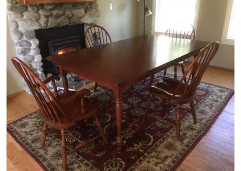 Dining table, matching living room set